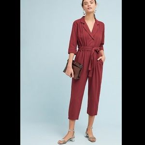 NWOT Amadi Anthropologie trench jumpsuit
